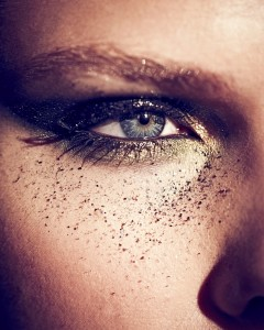 Beauty shoot playing with shadows. Photography Barnaby Newton. Makeup by Veronica Peters