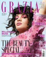 Grazia Arabia. Hair by me. Photographer Marv Martin. Stylist Kate Andrews. Makeup Riona Osullivan